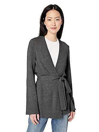 Daily Ritual Womens Long-Line Open-Front Cardigan Sweater, charcoal grey, Small
