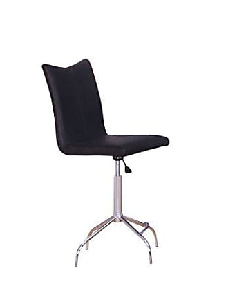 ACME ACME Vindex Black Faux Leather Bar Chair with Swivel and Lift Set of 2