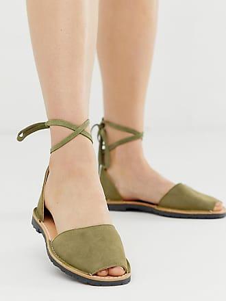 4d0798afcf12 Solillas Exclusive khaki suede ankle tie menorcan sandals