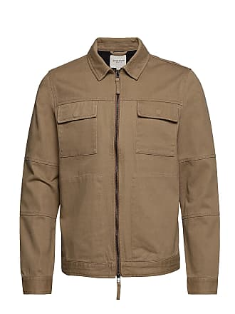 127bbcce Selected Slhkev Twill Worker Jacket W Tunn Jacka Brun SELECTED HOMME