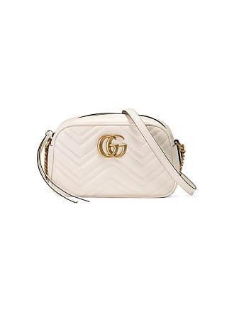 58ef06bac Gucci Bolsa GG Marmont pequena matelassê de couro - Branco
