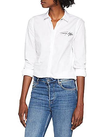Tommy Hilfiger Raque Shirt LS W2, Blouse Femme, Blanc (Classic White 100) fbc5f94f1f06