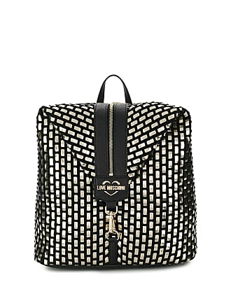 Love Moschino front zip backpack - Gold
