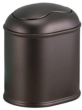 InterDesign York Vanity Countertop Wastebasket Trash Can, Bronze
