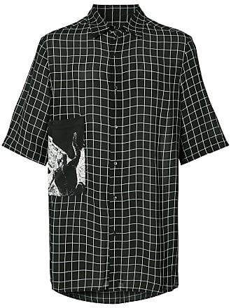 Ex Infinitas checked shirt - Preto