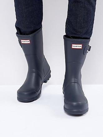 Hunter Original - Stivali da pioggia corti blu - Nero 5613c8a09fa