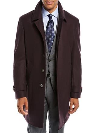 Neiman Marcus Mens Solid Wool Car Coat