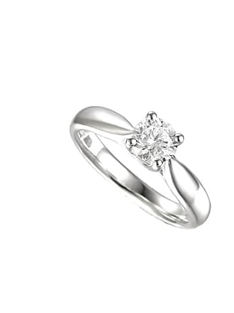 Amore Argento Rhodium Plated Sterling Silver Give You My Heart Ring - UK K 1/2 - US 5 3/8 - EU 51 1/4