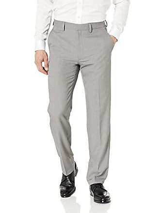 Haggar Mens Solid Gab Stretch Tailored Fit Suit Separate Pant, Grey, 38Wx34L