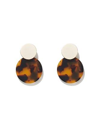Forever New Elora Resin Stud Earrings - Gold & Tort - 00