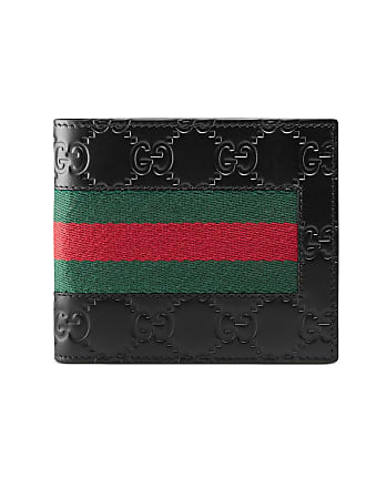 33bdbb3710a96 Gucci Brieftasche aus Gucci Signature Leder mit Webstreifen