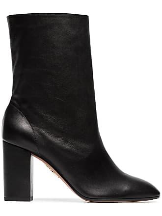 a09e669afdc3a Aquazzura black Boogie 85 scrunch leather boot