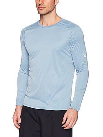 Hurley Mens Nike Dri-Fit Long Sleeve Sun Protection +50 UPF Rashguard, Noise Aqua Heather, XXL