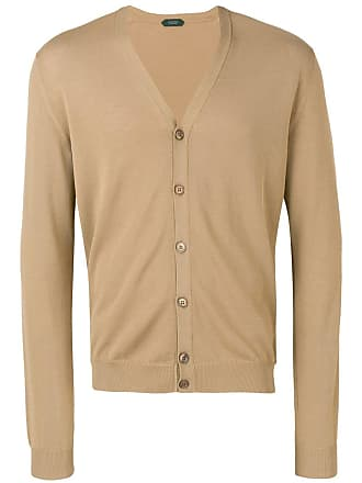 Zanone button fitted cardigan - Brown