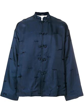 Visvim Camisa mangas longas com bordado - Azul