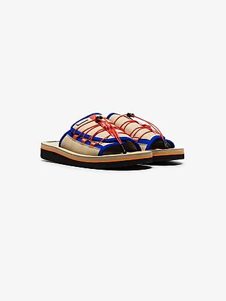 Suicoke Beige Olas slip-on faux leather sandals