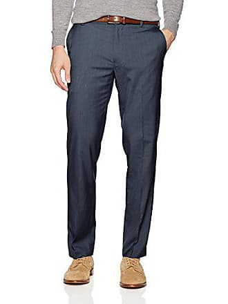 Van Heusen Mens Air Straight Fit Flat Front Dress Pant, Blue Haze, 33W X 30L