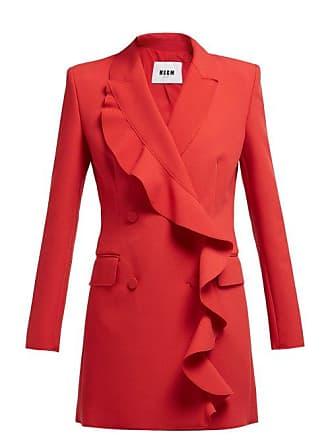 Msgm Msgm - Ruffled Cady Blazer Mini Dress - Womens - Red
