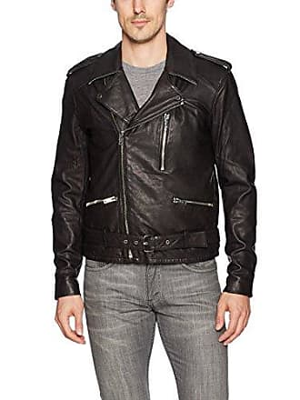 Joe's Mens Mick Leather Moto, Faded Ink, L