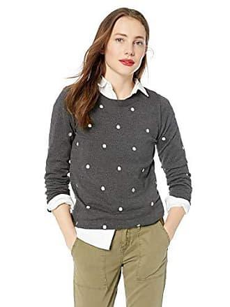 J.crew Womens Plus Size Crewneck Sweater, Heather Charcoal Silver, 2X