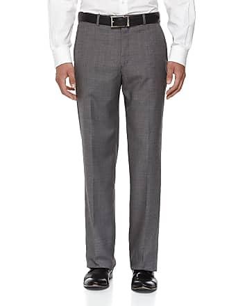 Neiman Marcus Classic-Fit Flat-Front Wool Sharkskin Pants, Gray