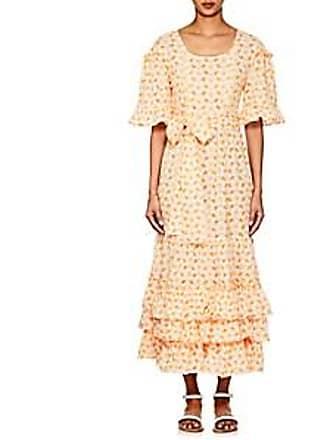 b4fc486a0e Lisa Marie Fernandez Womens January Embroidered-Eyelet Cotton Dress -  Orange Size 1