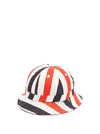 Holiday Boileau Striped Cotton Canvas Bucket Hat - Mens - Multi