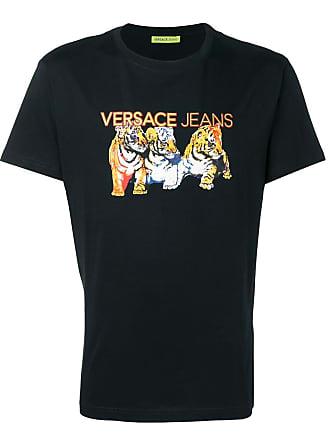 Versace Jeans Couture tiger logo print T-shirt - Black