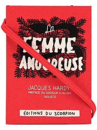 Olympia Le-Tan Clutch livro La Femme Amoureuse - Vermelho