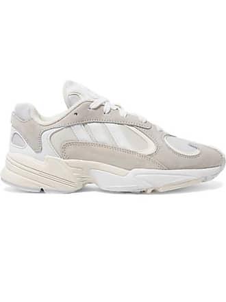 51ef6bb4e4ae3 adidas Originals Yung-1 Sneakers Aus Leder, Veloursleder Und Mesh - Weiß