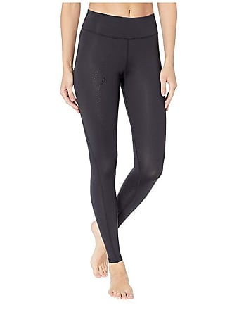 2XU Mid-Rise Compression Tights (Black/Dotted Black Logo) Womens Workout