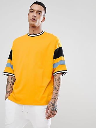 Asos T-shirt i oversize-modell med färgblock i gult - Smör eb6e0857f679a