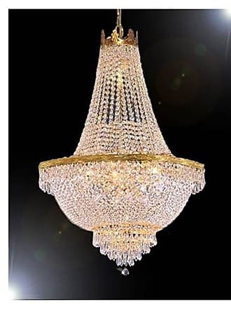 Gallery T22-2729 9 Light 24 Wide Crystal Empire Chandelier Gold