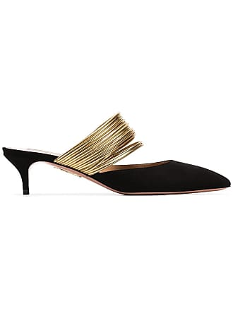 Aquazzura Sapato mule de camurça - Preto