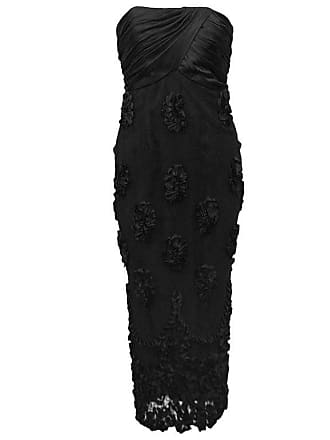 935c7beaec1 1stdibs 1960s Black Strapless Cocktail Dress With Lace And Floral Applique  Skirt