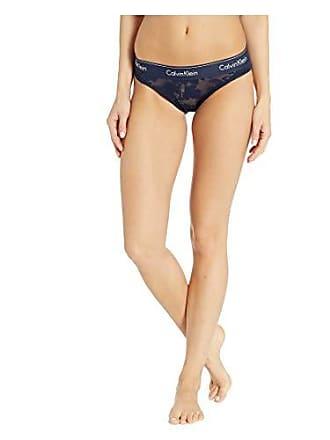 6e64a8a4c8d0 Calvin Klein Womens Modern Cotton Bikini Panty, Floral Burnout Blue, M