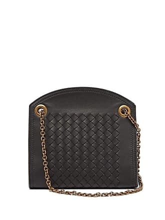 Bottega Veneta Intrecciato Leather Cross Body Bag - Womens - Black