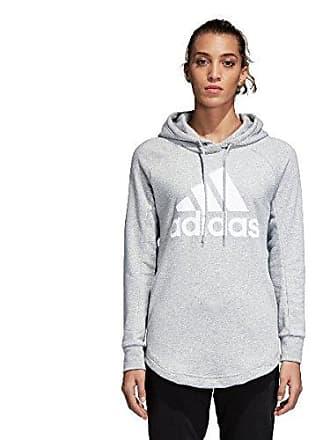 purchase cheap 36e13 d1be5 adidas Womens CZ5667 SID Oh Hooded Sweatshirt, Medium Grey Heather White, XL