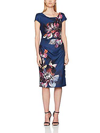 acfe7f3ded7bd Adrianna Papell Damen Kleid Ap1D101252 Blau (Navy Multi AH980)  38(Hersteller Größe