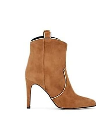 b80e63656c79 Barneys New York Womens Suede Western Ankle Boots - Brown Size 11.5