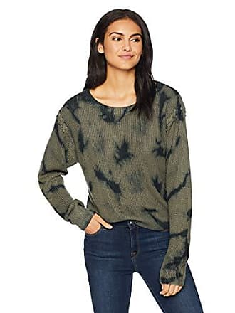 Splendid Womens Crewneck Long Sleeve Pullover Sweater Sweatshirt, Military Olive, Small