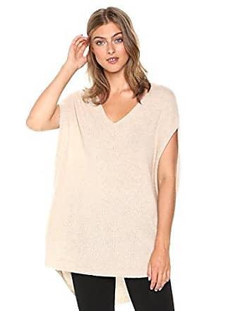 Theory Womens Sleeveless Vneck Cape Sweater, Warm Stone, P