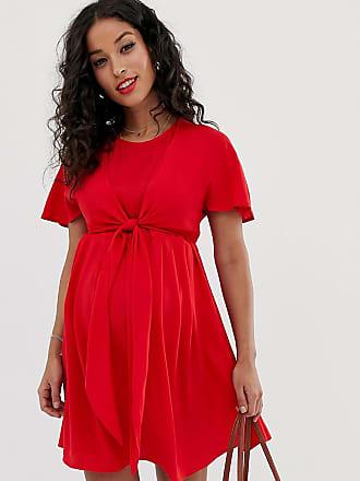 93f134037c72 Asos Maternity ASOS DESIGN Maternity Nursing mini wrap dress - Red