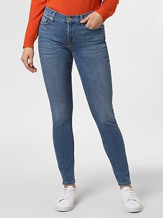 7 For All Mankind Damen Jeans - The Skinny blau