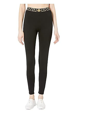 905eacc79393c Versace Gym Donna Leggings (Black) Womens Casual Pants