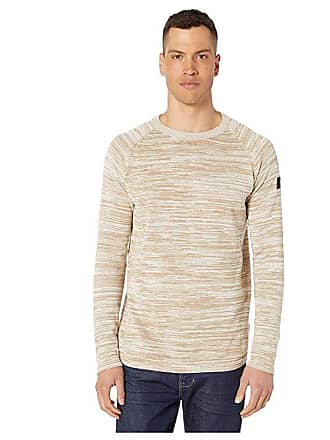G-Star Core Straight Round Neck Long Sleeve Knit (Sahara/Ivory) Mens Clothing
