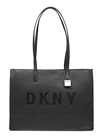 0f815f7065411 DKNY Tasche COMMUTER-LG TZ TOTE-SOLID schwarz   silber