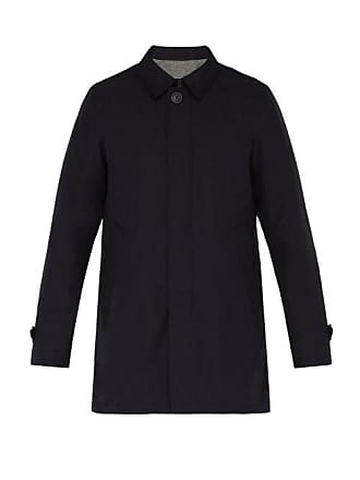 Herno Byron Technical Overcoat - Mens - Navy
