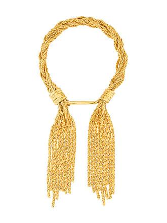 Aurélie Bidermann Pulseira com pingentes de tassel - Dourado