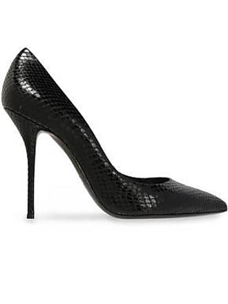 f51c647b7b4807 Casadei Casadei Woman Paraguay Snake-effect Leather Pumps Black Size 38.5